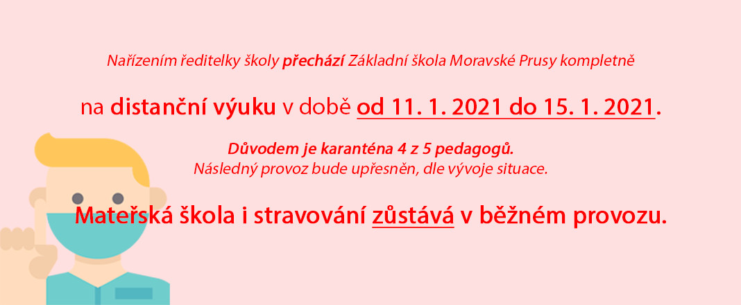 Distanční výuka od 11. 1. 2021 do 15. 1. 2021